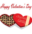Valentines Day box of chocolate candy white vector image vector image