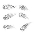 volleyball moving symbol vector image vector image