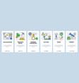 web site onboarding screens hardware tools vector image vector image