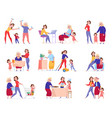 women generation grandma mother daughter icon set vector image