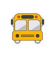 yellow school bus icon vector image vector image