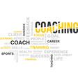 word cloud coaching vector image
