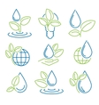 Ecology symbol set Eco-icons vector image