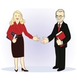Full length business couple vector image