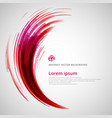 abstract red and pink lines curve circle vector image vector image