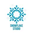 abstract snowflake logo templates vector image vector image