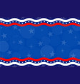 american abstract flag holiday banner background vector image vector image