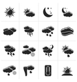 Black Weather and meteorology icons vector image vector image