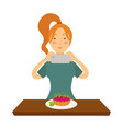 blogger girl or vlogger woman shoot pastry vector image vector image