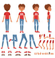 boy character creation set cute boy constructor vector image vector image