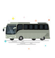 bus flat design public transport vector image vector image