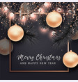 christmas and new year background for card vector image vector image