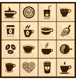 Coffee cup icons black vector image