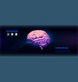 colorful low poly side view brain vector image