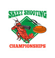 Crayfish Lobster Target Skeet Shooting vector image vector image