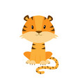 cute cartoon tiger isolated on vector image vector image