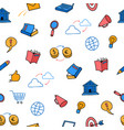 cute colored doodle seamless pattern business vector image vector image