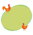 cute funny couple of farm rooster and hen two vector image vector image