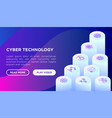 cyber technology concept with thin line vector image