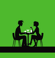 date boy and girl at cafe table vector image