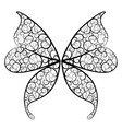 decorative wings a fantasy butterfly and a vector image vector image
