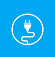 electric plug electricity icon vector image