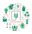 energy saving concept in green icons vector image vector image