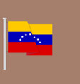flag of venezuela with copyspace vector image