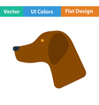 Flat design icon of hinting dog had vector image