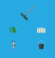 flat icon dacha set of pail bailer harrow and vector image vector image