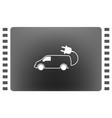 flat icon of an eco car vector image