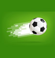 flying soccer ball world competition concept vector image vector image