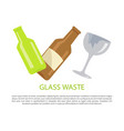glass water poster text sample vector image