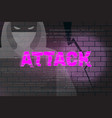 hacker attack abstract background 2 vector image