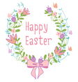 Happy Easter floral wreath vector image vector image