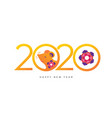 happy new 2020 year colorful banner vector image vector image