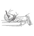 holding the pen ever come across was in design vector image vector image