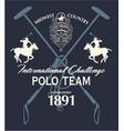 horseback polo sport international challenge vector image vector image