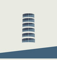 icon of the tower of pisa in flat design vector image