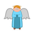 isolated angel cartoon character vector image