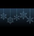 large transparent christmas hanging snowflakes vector image vector image