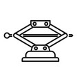 machine jack-screw icon outline style vector image vector image