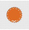 orange circle sticker or tag wrapped with white vector image vector image
