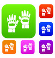 pair of paintball gloves set collection vector image vector image