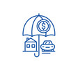 personal insuarance line icon concept personal vector image vector image