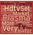 plasma hdtv text background wordcloud concept vector image vector image