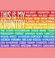 poster rainbow united states america flag vector image