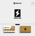 power flash logo template and business card vector image vector image