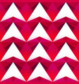 red triangle seamless pattern vector image