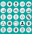 resources icons set collection of talking woman vector image